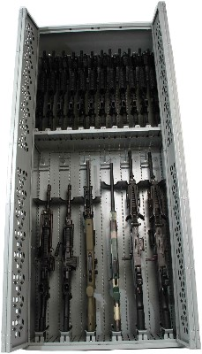 Full Height or Stackable Weapon Racks available